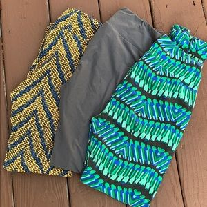 Set of three lula roe leggings